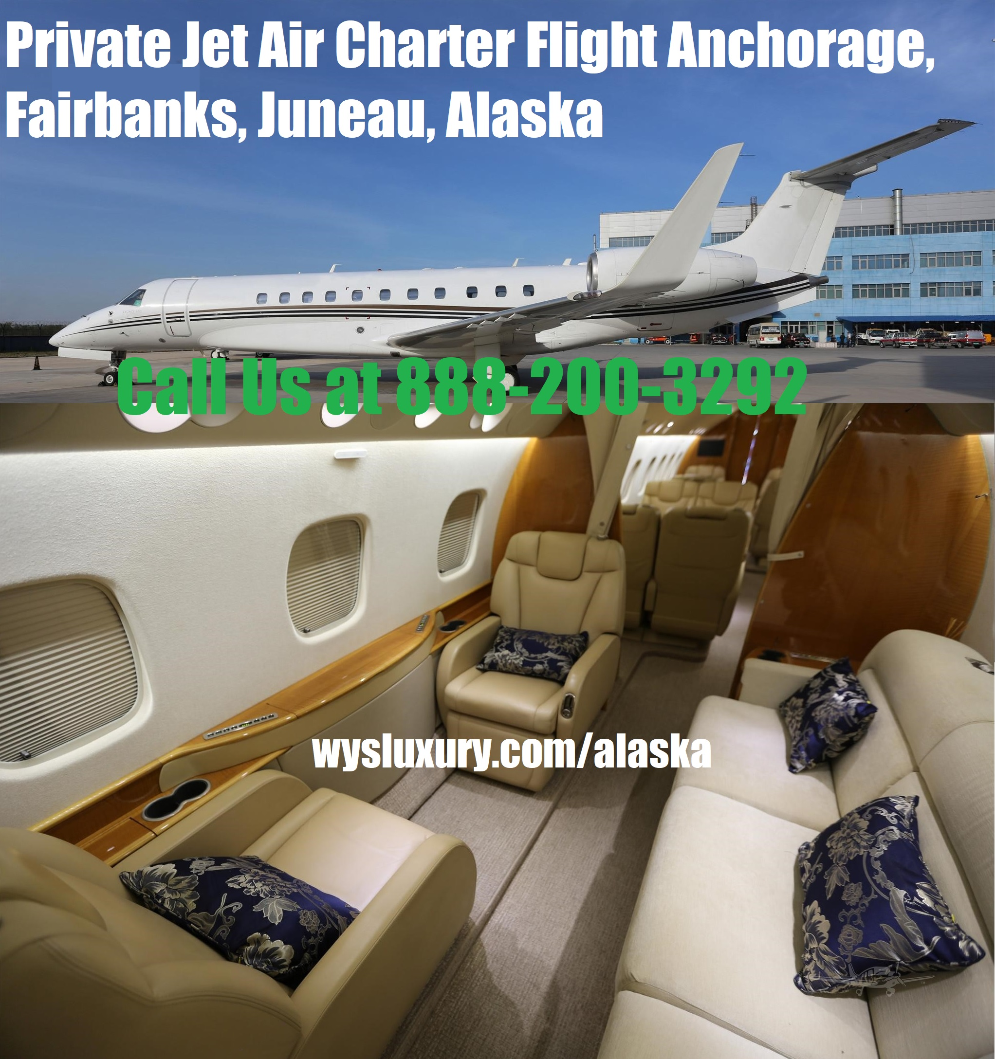 Private Jet Air Charter Flight Anchorage, Fairbanks