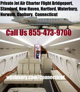 Executive Private Jet Air Charter Bridgeport airport