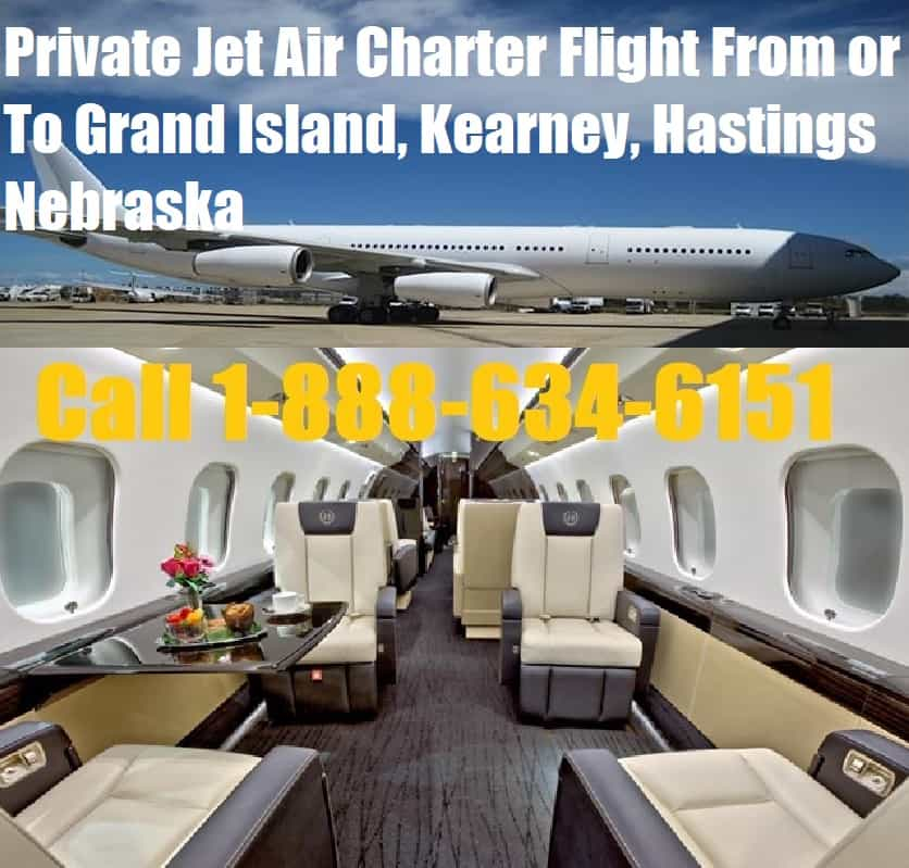 Rental Companies Near Me: Private Jet Air Charter Flight From-To Grand Island
