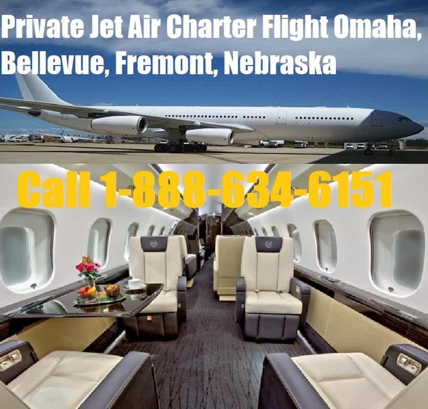 Rental Companies Near Me: Private Jet Charter Omaha, Bellevue, Fremont, NE Air Plane