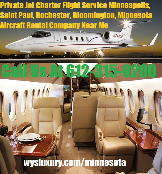 Rental Companies Near Me: Private Jet Air Charter Flight Minneapolis, MN Plane