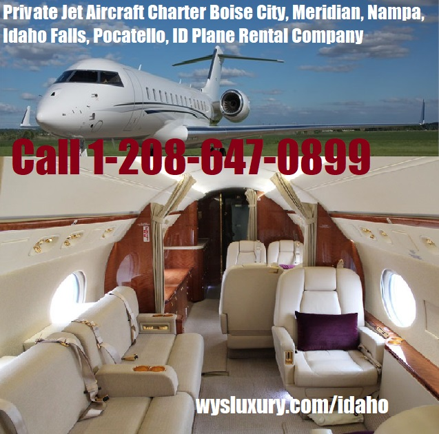 Rental Companies Near Me: Private Jet Charter Flight From Or To Idaho Plane Rental
