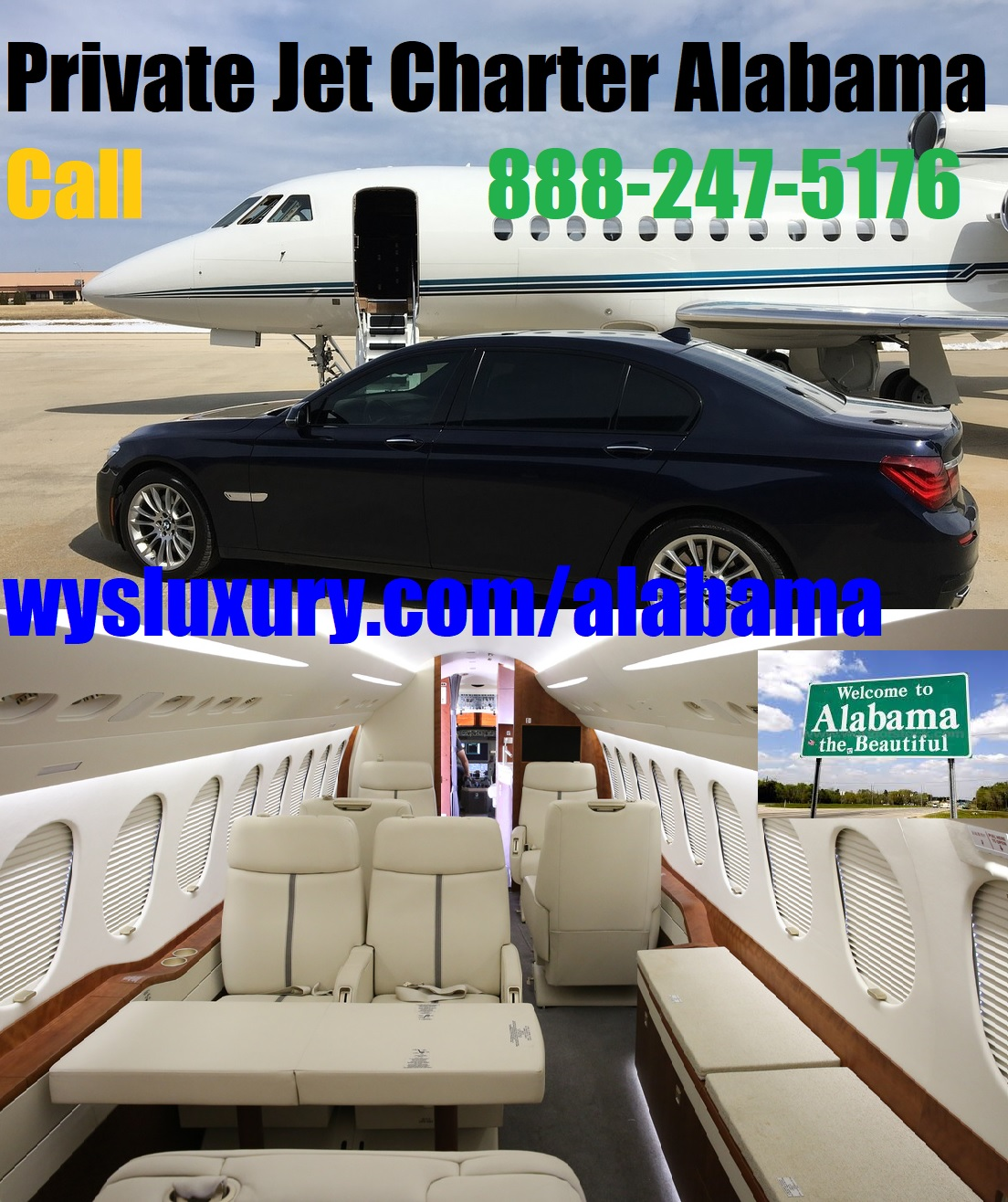 Rental Companies Near Me: Private Jet Charter Flight From Or To Alabama Air Plane